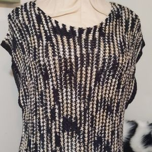 Vince Camuto Fringed Knit Top